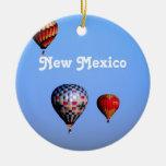 Balloon Festival in New Mexico Round Ceramic Decoration