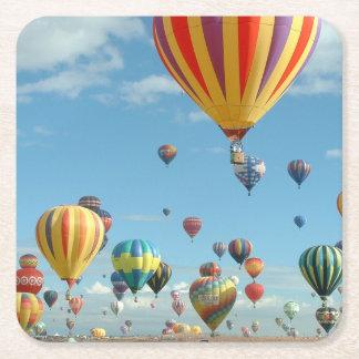 Balloon Fiesta Square Paper Coaster