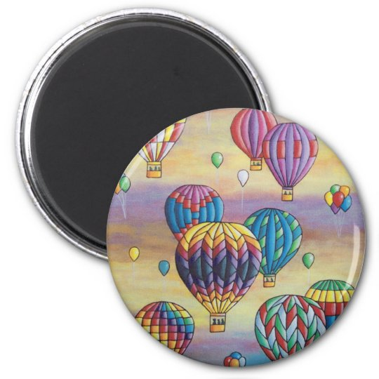 balloon flight 6 cm round magnet