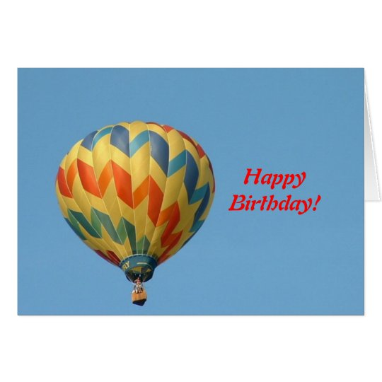 Balloon flying high! card