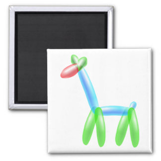 Balloon Giraffe Square Magnet