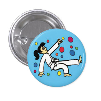 Balloon Girl Button