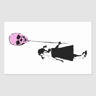 Balloon Girl Rectangular Sticker