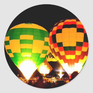 Balloon Glow Classic Round Sticker
