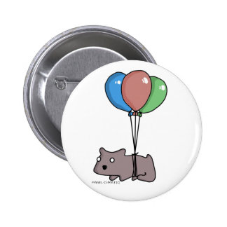 Balloon Hamster Frank by Panel-O-Matic 6 Cm Round Badge