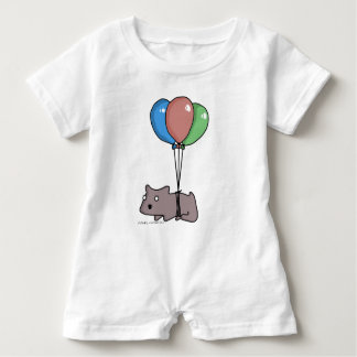 Balloon Hamster Frank by Panel-O-Matic Baby Bodysuit