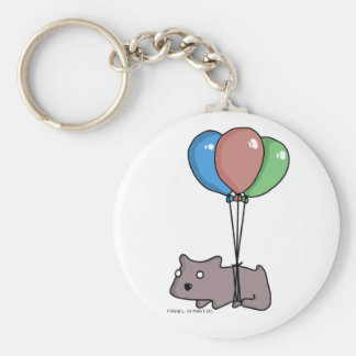 Balloon Hamster Frank by Panel-O-Matic Basic Round Button Key Ring