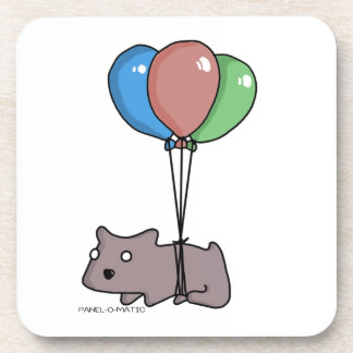 Balloon Hamster Frank by Panel-O-Matic Coasters