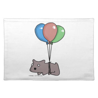 Balloon Hamster Frank by Panel-O-Matic Placemats