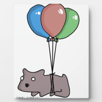 Balloon Hamster Frank by Panel-O-Matic Plaque