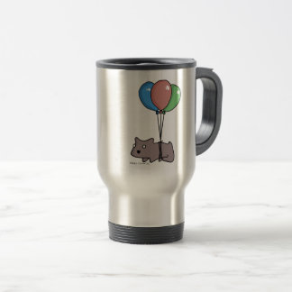 Balloon Hamster Frank by Panel-O-Matic Travel Mug