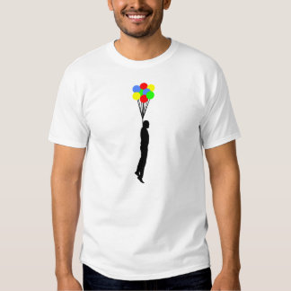 Balloon Hanging Funny T-shirt Wht