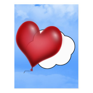 Balloon Hearts (Add Your Text) Post Card