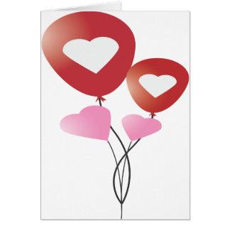 Balloon Hearts I love You Valentine's Day Card