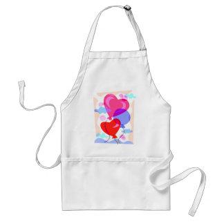 Balloon Hearts Standard Apron
