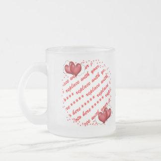 Balloon Hearts with Little Hearts Photo Frame Mug