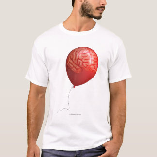 Balloon illustration with a superimposed brain T-Shirt