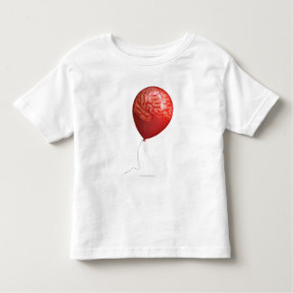 Balloon illustration with a superimposed brain toddler T-Shirt