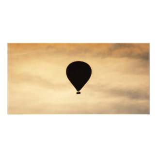 Balloon In Sky Personalized Photo Card