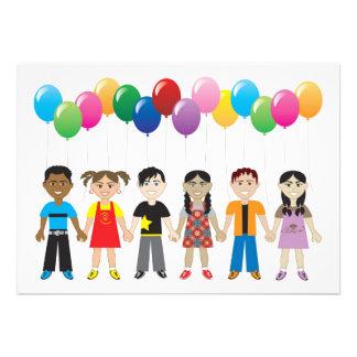 Balloon Kids Custom Invites