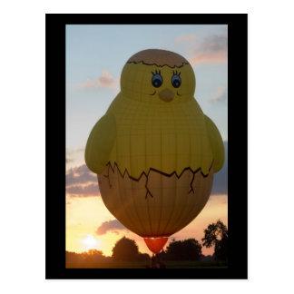 Balloon kuiken2 postcard
