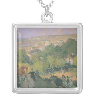 Balloon Landing at Pre St-Gervais, c.1885 Silver Plated Necklace