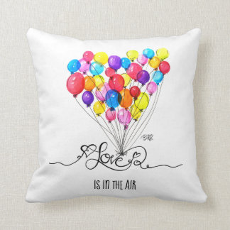 BALLOON LOVE is in the Air | Heart | Colorful Cushion