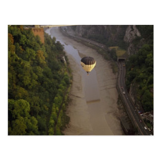 Balloon over Avon Gorge, Bristol, England Postcard