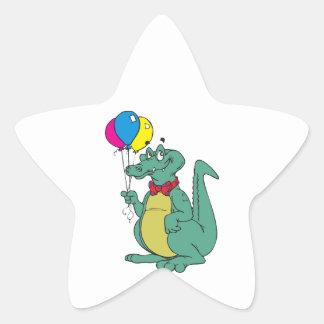 Balloon Party Birthday Celebration Destiny Cartoon Star Stickers