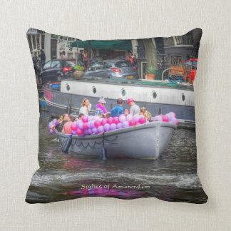 Balloon Party Boat, Sights of Amsterdam Cushion