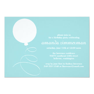 "Balloon Party Invitation 5"" X 7"" Invitation Card"