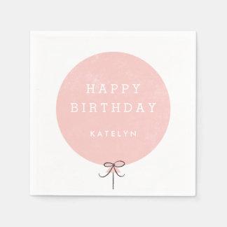 Balloon Party Napkin - Peach Paper Napkin
