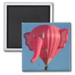 Balloon Pink Elephant Square Magnet