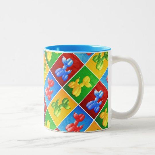 Balloon Poodle Two-Tone Coffee Mug