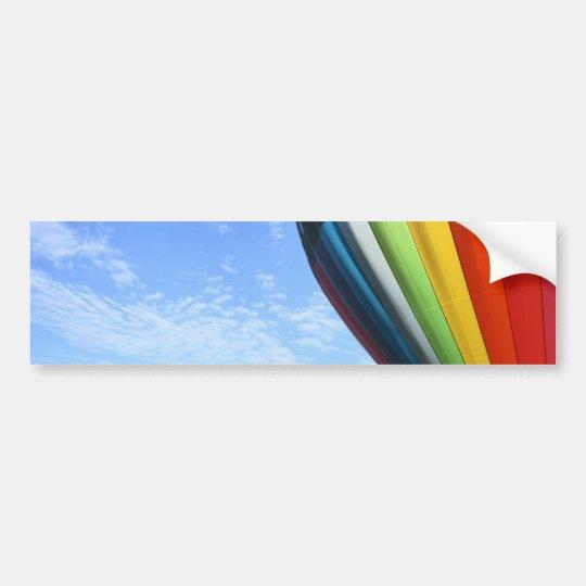 Balloon rainbow in the sky bumper sticker