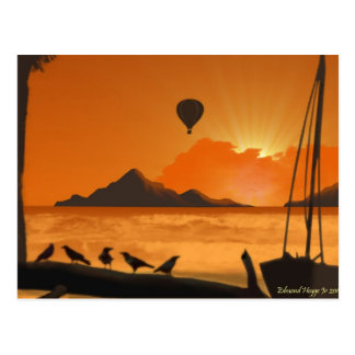 Balloon Ride at Sunset Postcard
