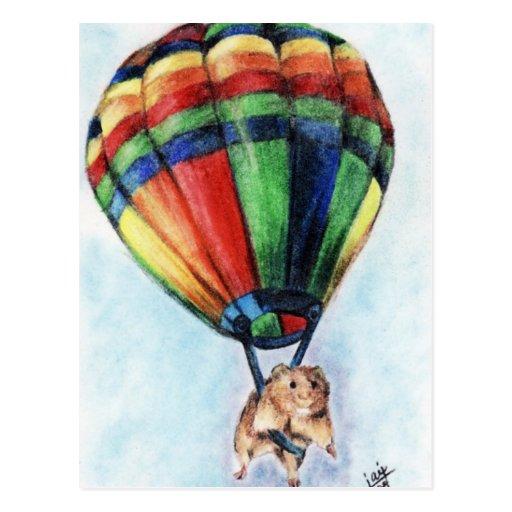 Balloon Ride (Hamster) Postcards