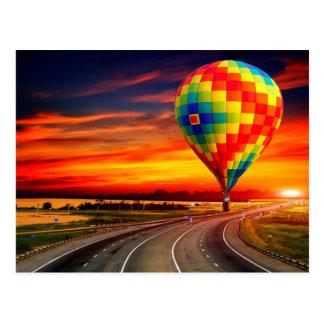 Balloon Sunset Postcards