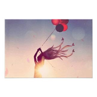 Balloon Sunshine Photographic Print