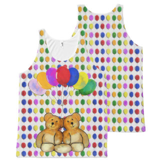 Balloon Teds All-Over Print Tank Top