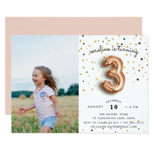 3 Year Old Invitations Announcements