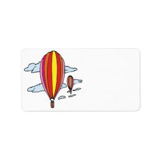 Ballooning 5 address label