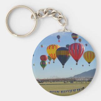 Ballooning Basic Round Button Key Ring