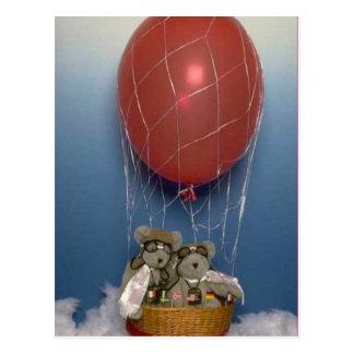 Ballooning bears postcard