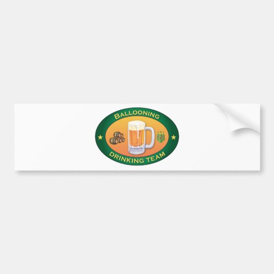 Ballooning Drinking Team Bumper Sticker