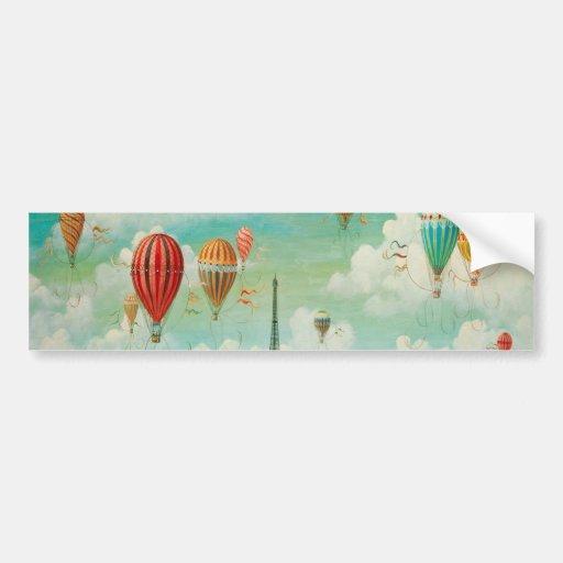 Ballooning Over Paris Bumper Stickers