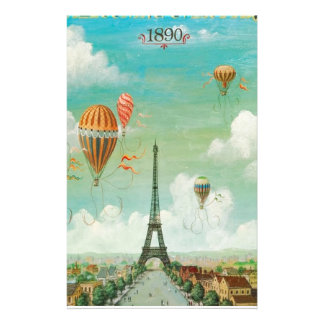 Ballooning Over Paris Customised Stationery