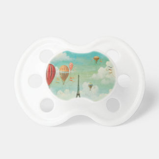 Ballooning Over Paris Baby Pacifiers