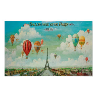 Ballooning Over Paris Poster