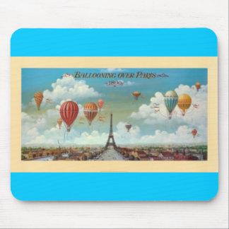 Ballooning Over Paris Print 1890 Mouse Mat